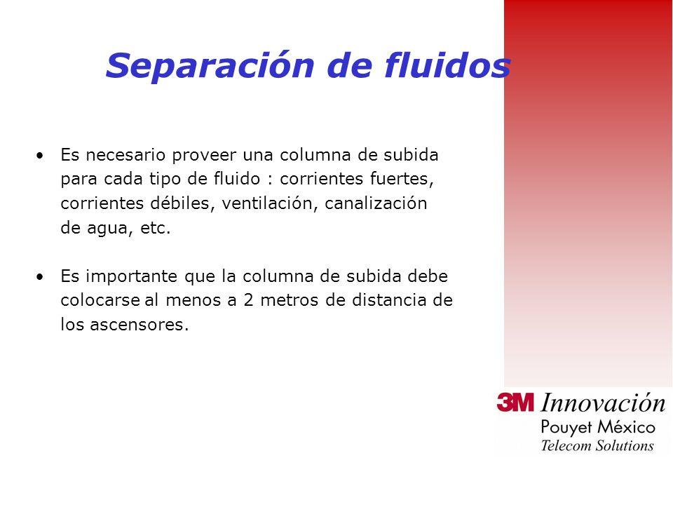 Separación de fluidos Es necesario proveer una columna de subida