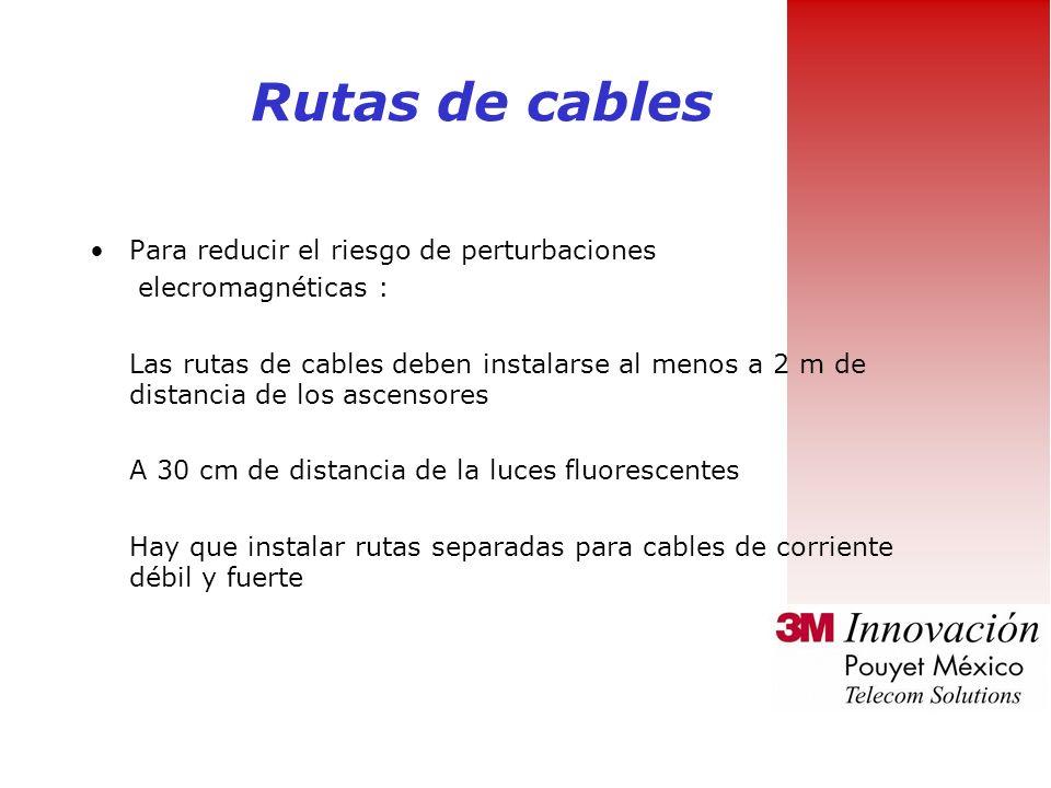 Rutas de cables Para reducir el riesgo de perturbaciones