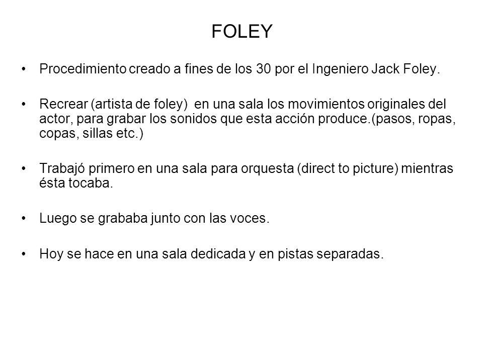 FOLEY Procedimiento creado a fines de los 30 por el Ingeniero Jack Foley.