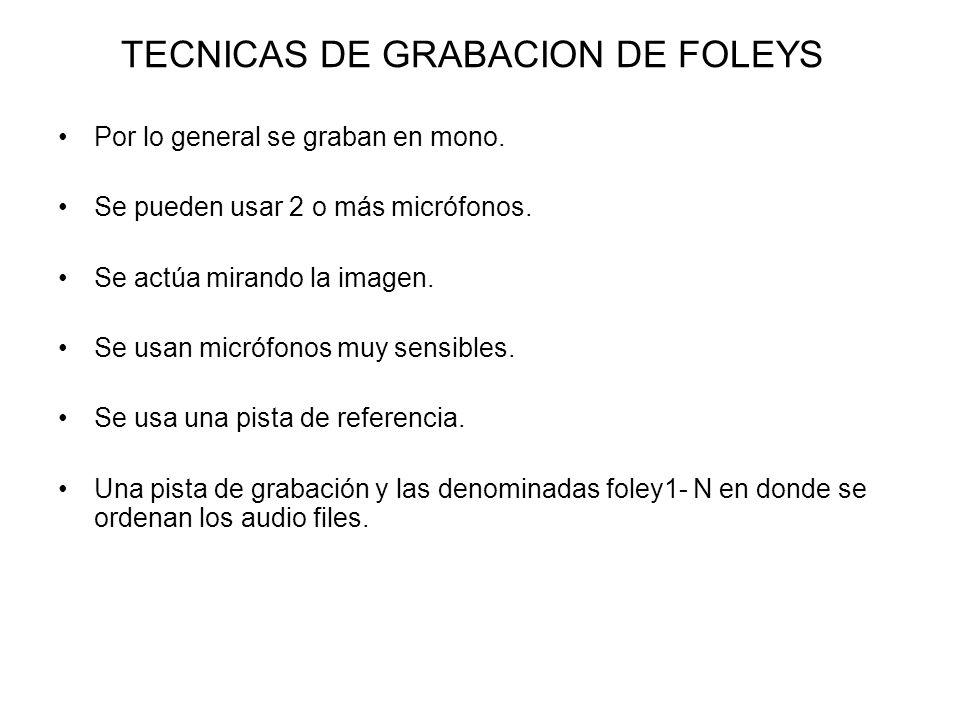 TECNICAS DE GRABACION DE FOLEYS