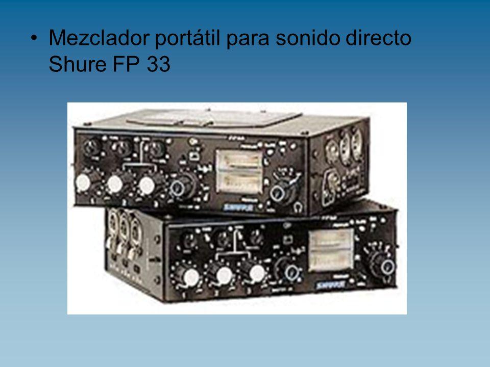 Mezclador portátil para sonido directo Shure FP 33