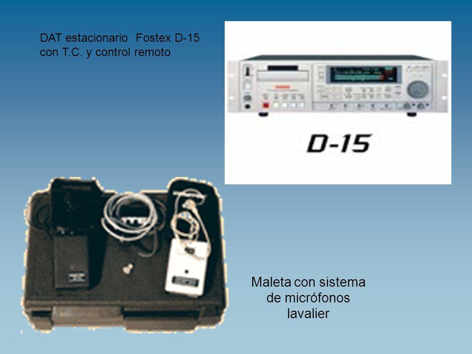 Maleta con sistema de micrófonos lavalier