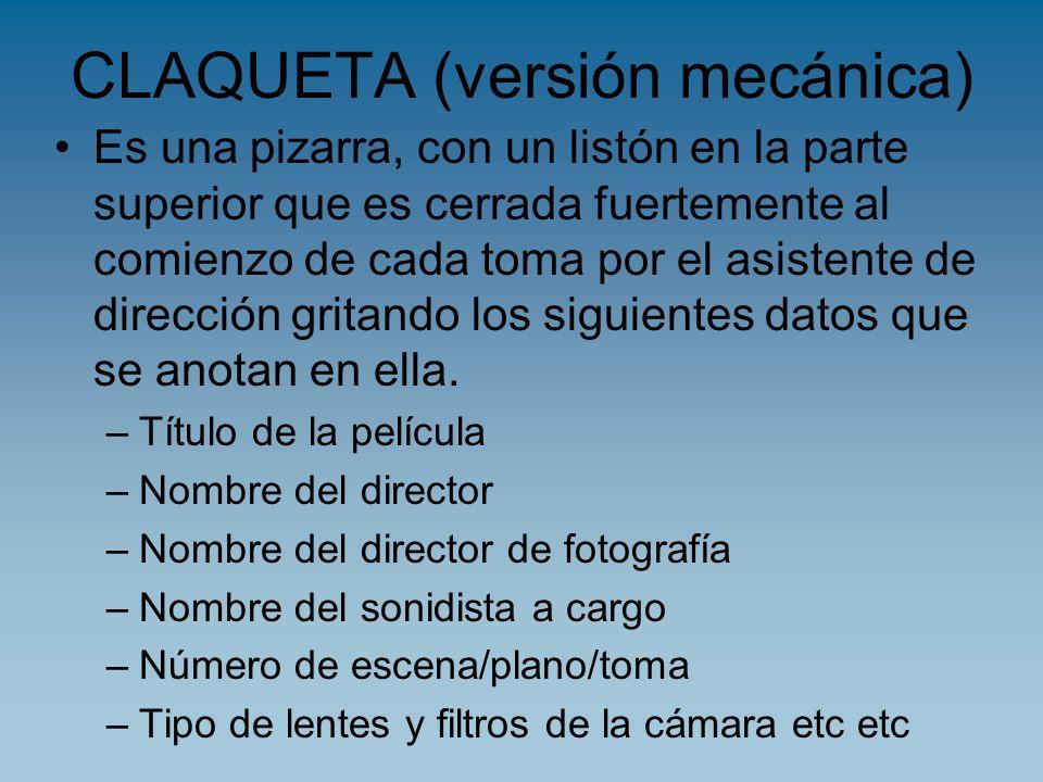CLAQUETA (versión mecánica)