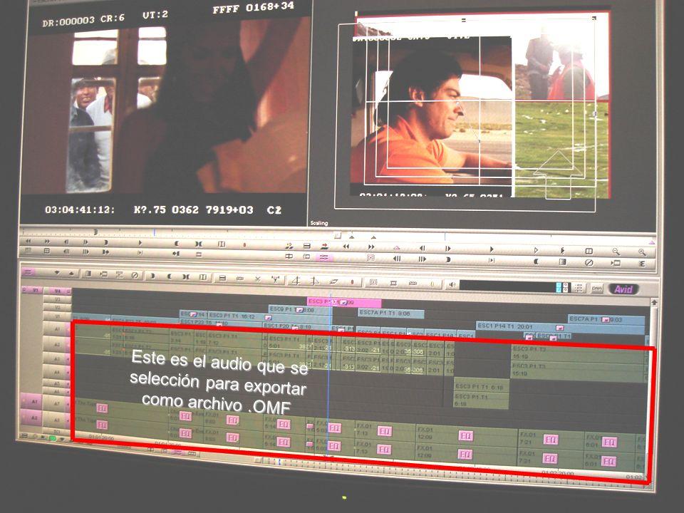 Este es el audio que se selección para exportar como archivo .OMF