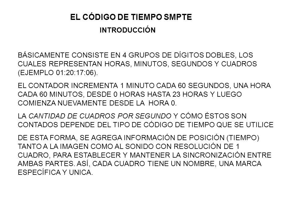 EL CÓDIGO DE TIEMPO SMPTE