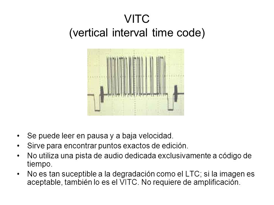 VITC (vertical interval time code)