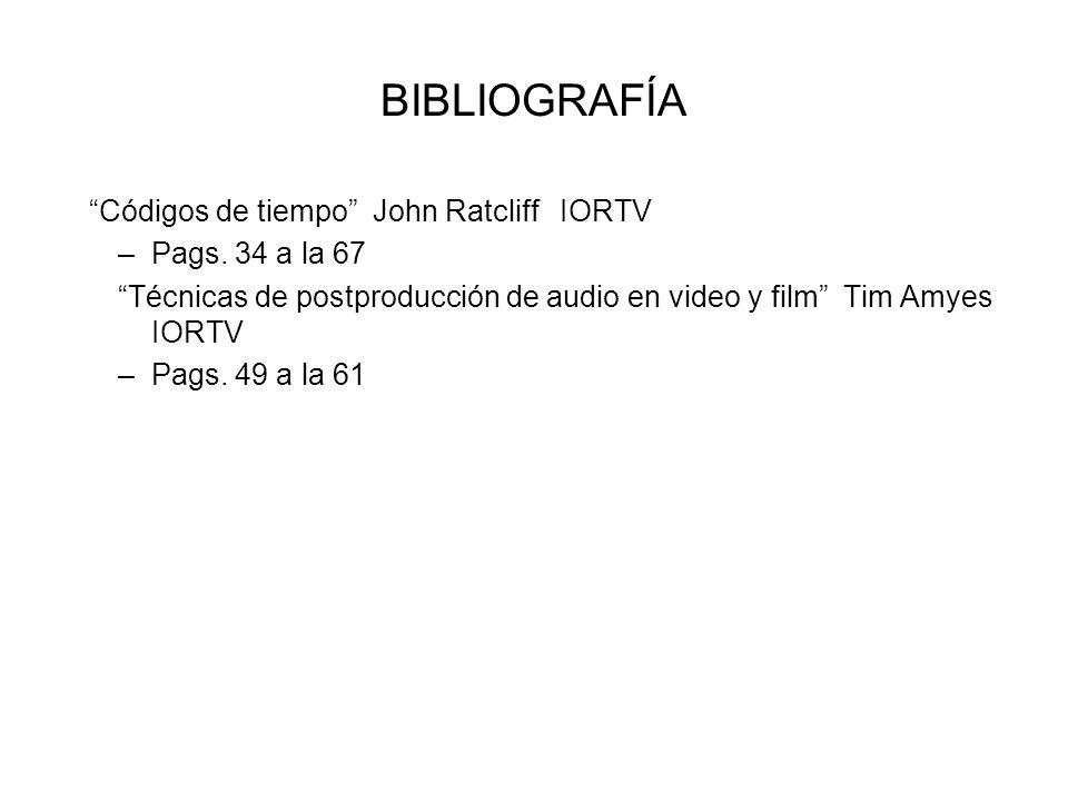 BIBLIOGRAFÍA Códigos de tiempo John Ratcliff IORTV Pags. 34 a la 67