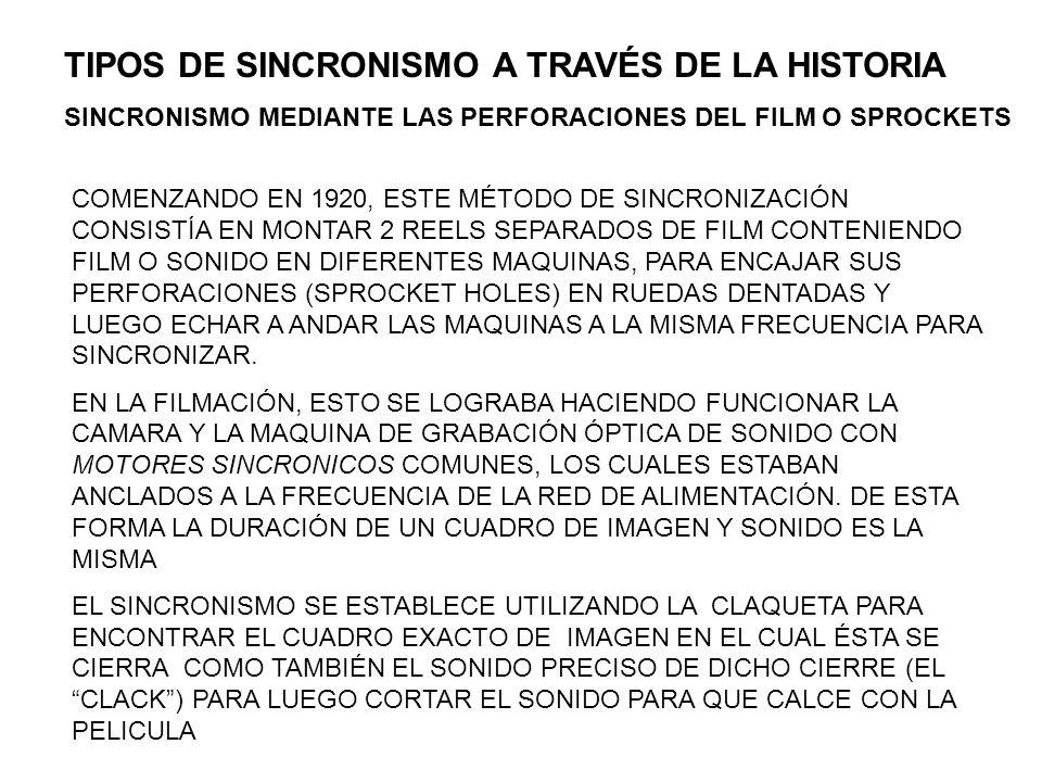 TIPOS DE SINCRONISMO A TRAVÉS DE LA HISTORIA