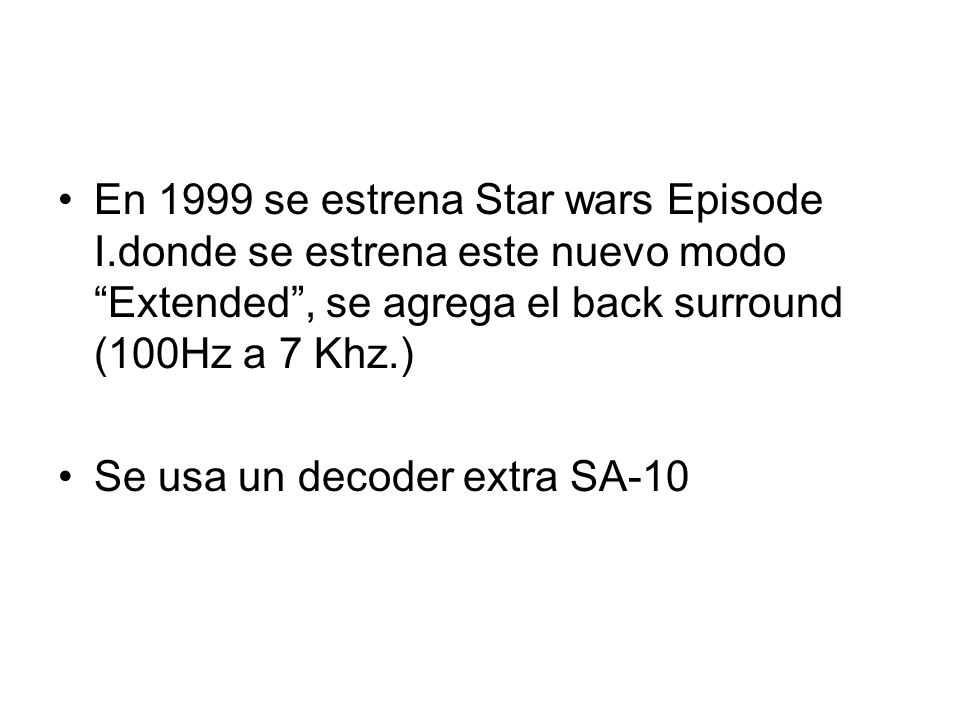 En 1999 se estrena Star wars Episode I
