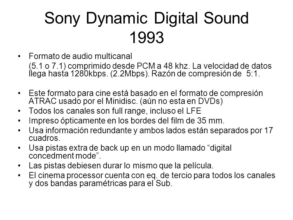 Sony Dynamic Digital Sound 1993