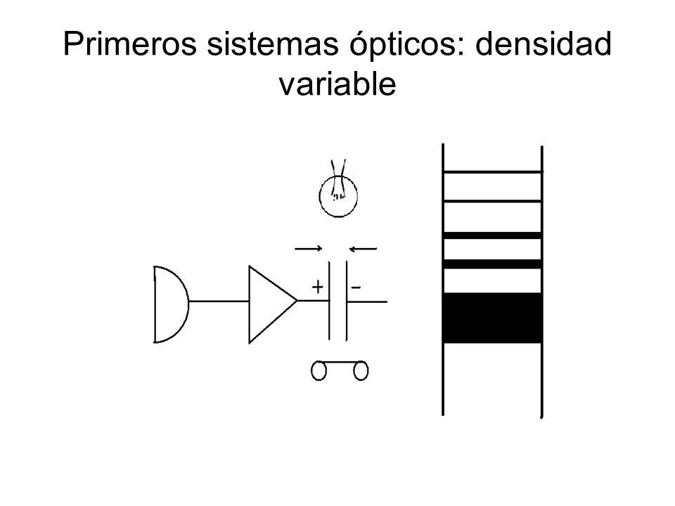 Primeros sistemas ópticos: densidad variable