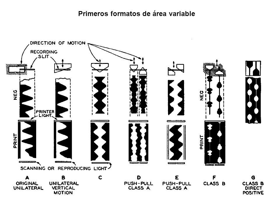 Primeros formatos de área variable