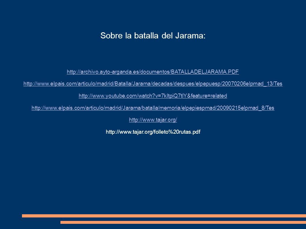 Sobre la batalla del Jarama: