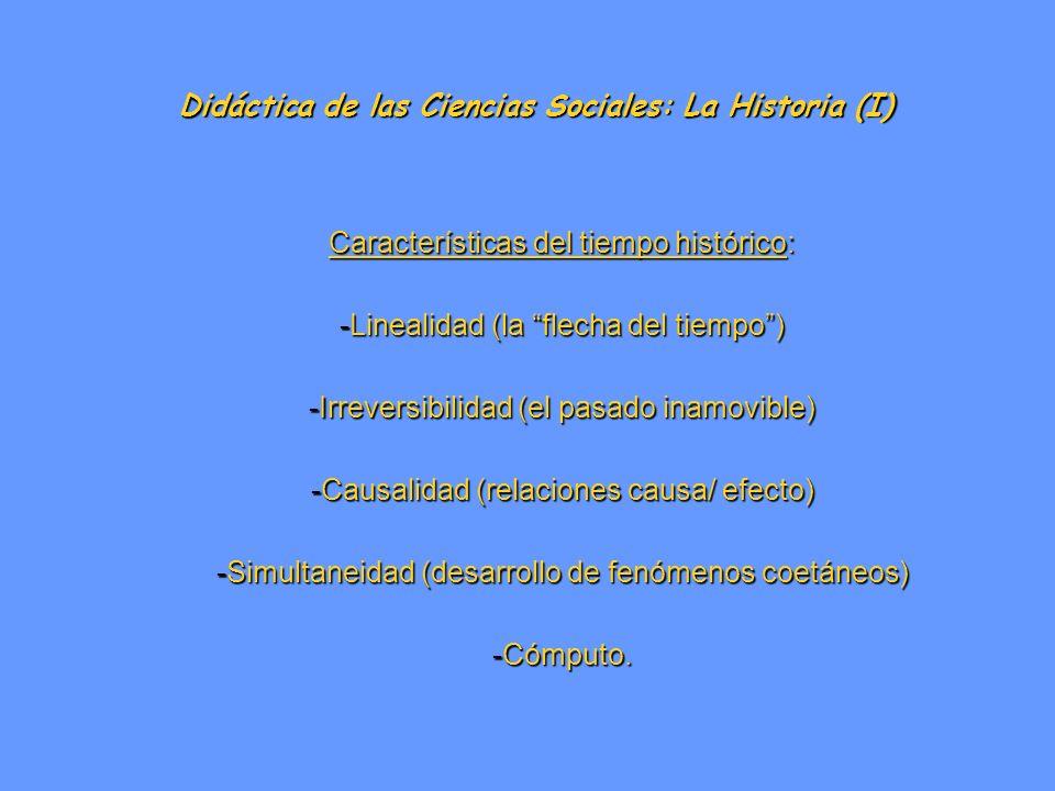 Didáctica de las Ciencias Sociales: La Historia (I)