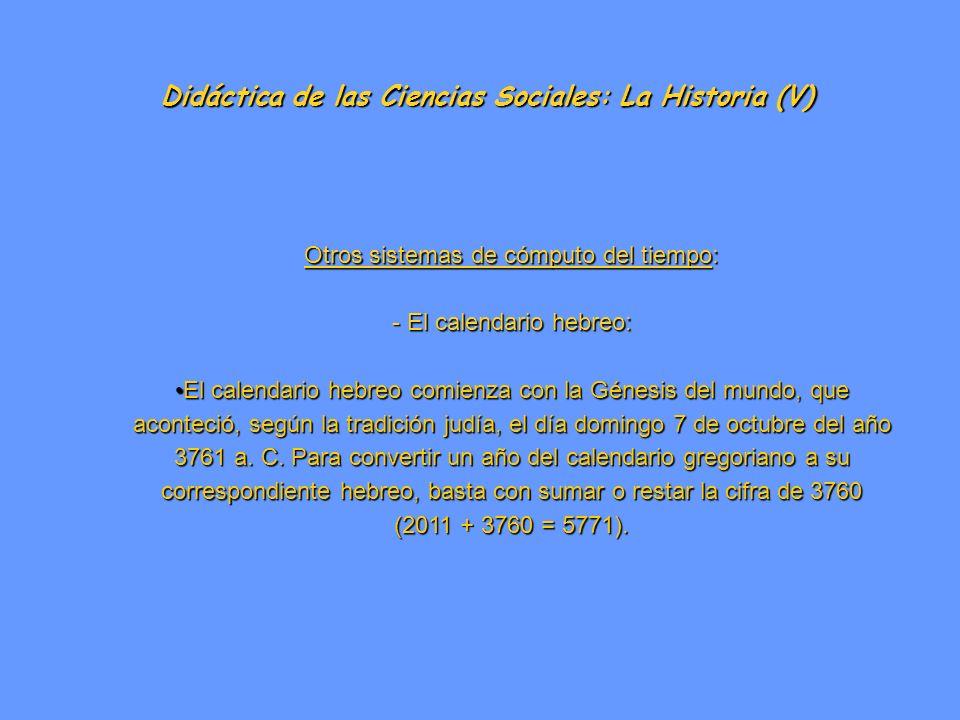 Didáctica de las Ciencias Sociales: La Historia (V)