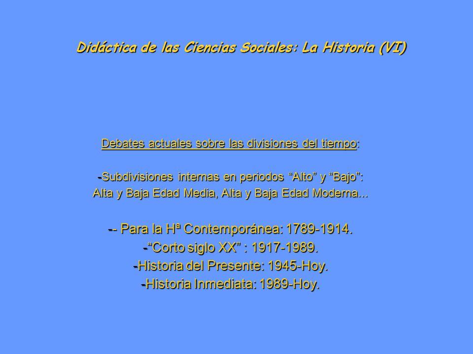 Didáctica de las Ciencias Sociales: La Historia (VI)
