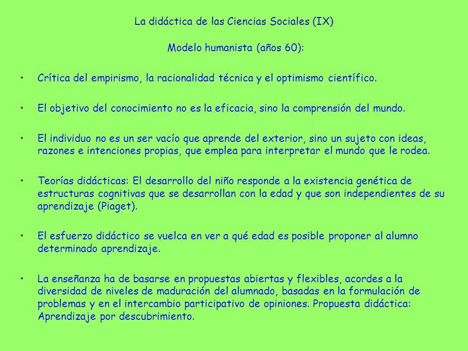 La didáctica de las Ciencias Sociales (IX)
