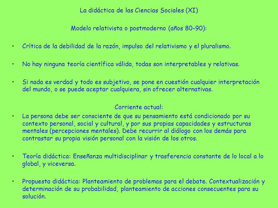 La didáctica de las Ciencias Sociales (XI)