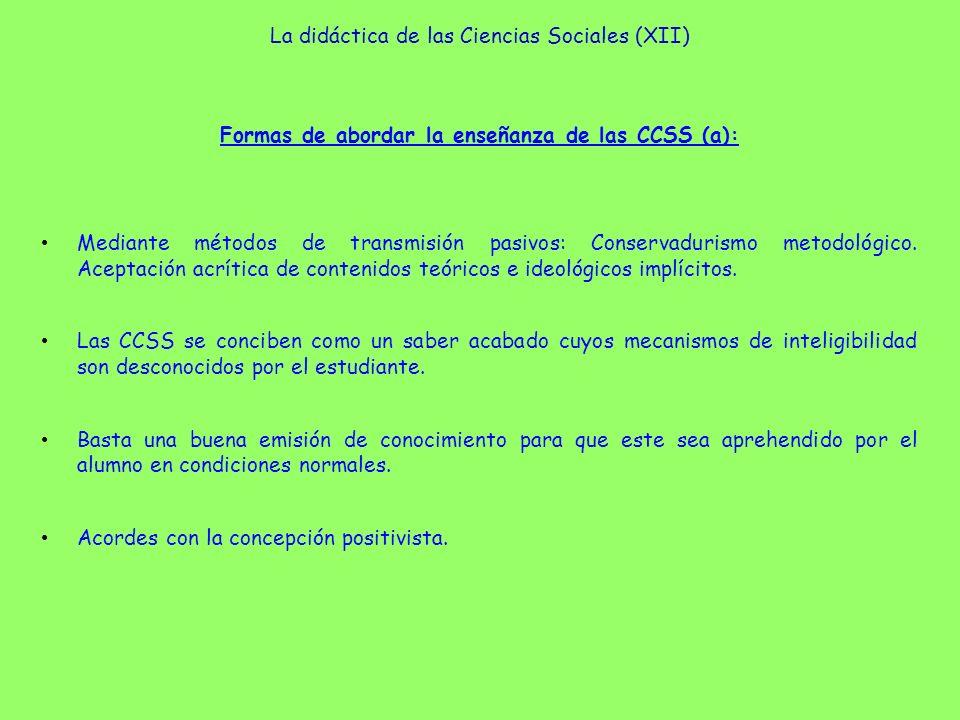La didáctica de las Ciencias Sociales (XII)