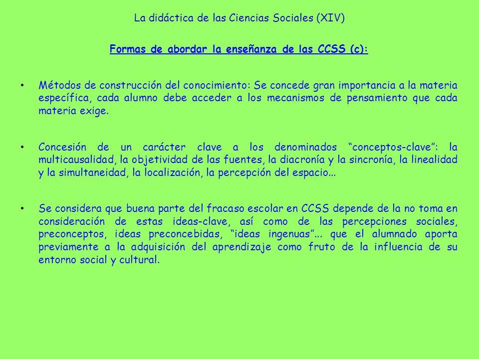 La didáctica de las Ciencias Sociales (XIV)