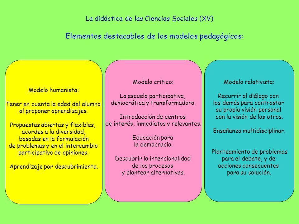 La didáctica de las Ciencias Sociales (XV)