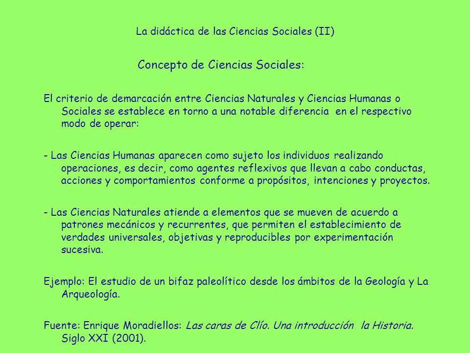 La didáctica de las Ciencias Sociales (II)