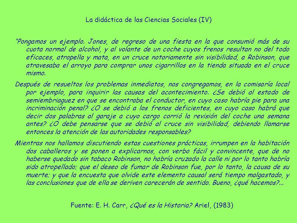 La didáctica de las Ciencias Sociales (IV)