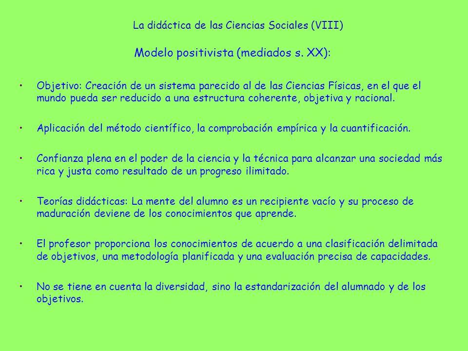 La didáctica de las Ciencias Sociales (VIII)