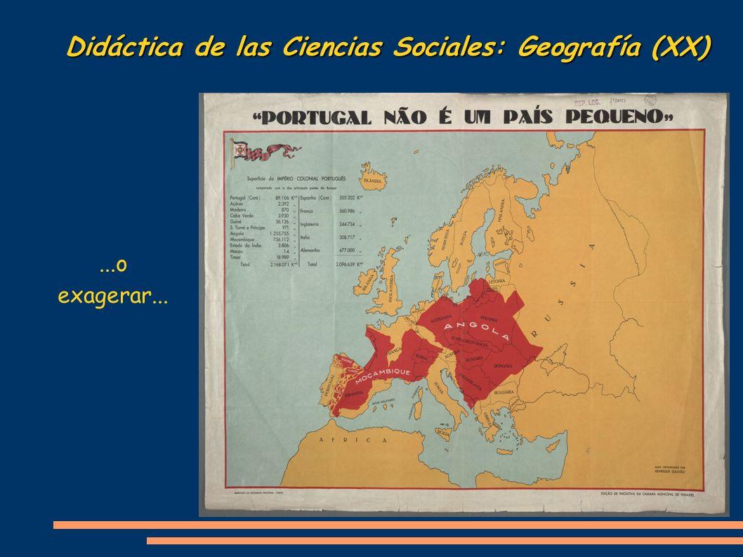 Didáctica de las Ciencias Sociales: Geografía (XX)