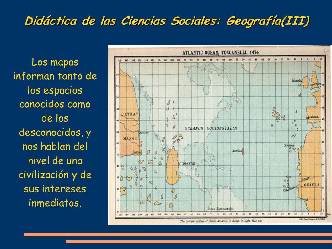 Didáctica de las Ciencias Sociales: Geografía(III)