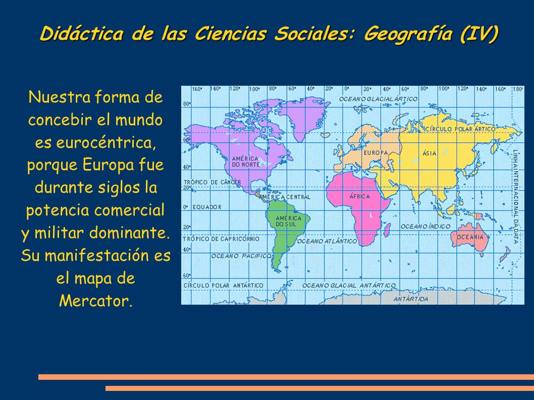 Didáctica de las Ciencias Sociales: Geografía (IV)