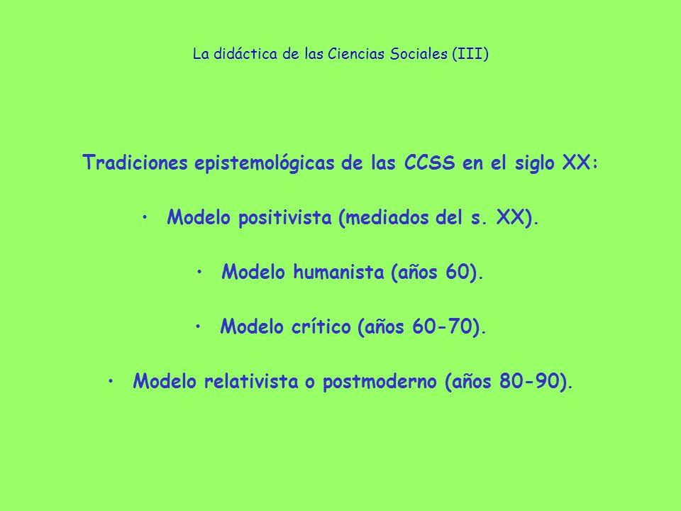 La didáctica de las Ciencias Sociales (III)