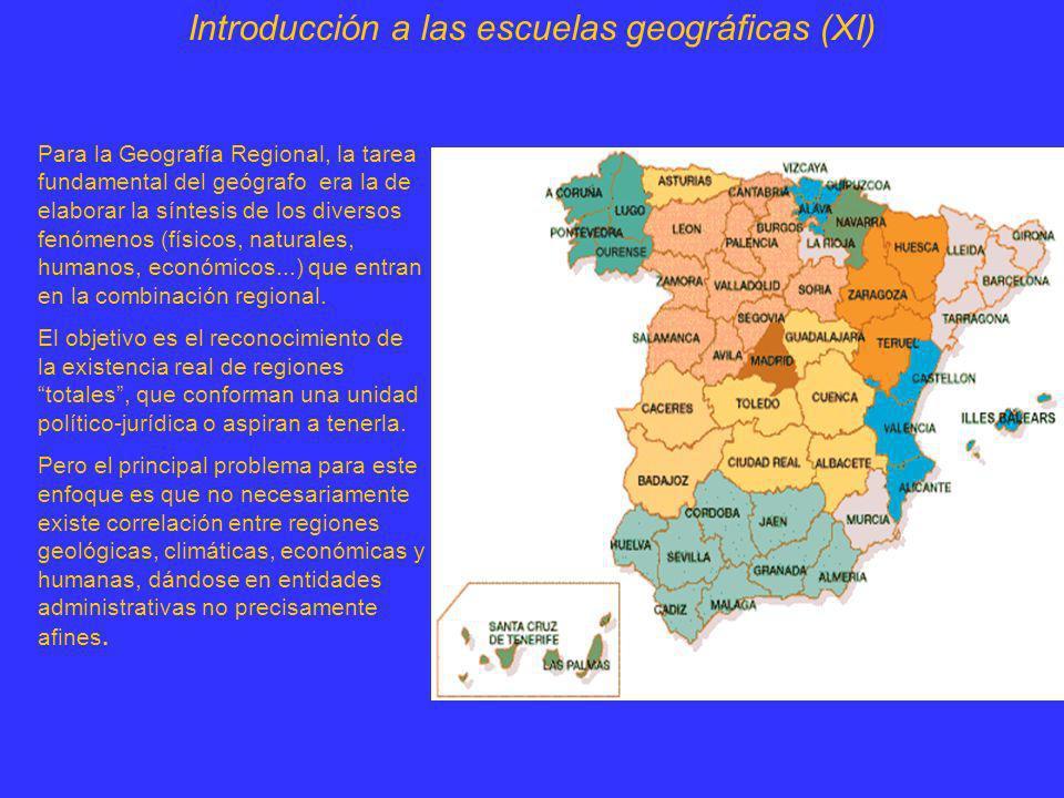 Introducción a las escuelas geográficas (XI)