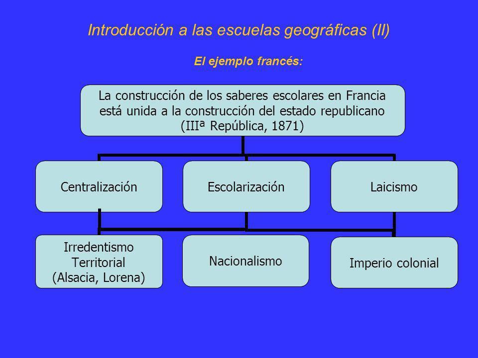 Introducción a las escuelas geográficas (II)