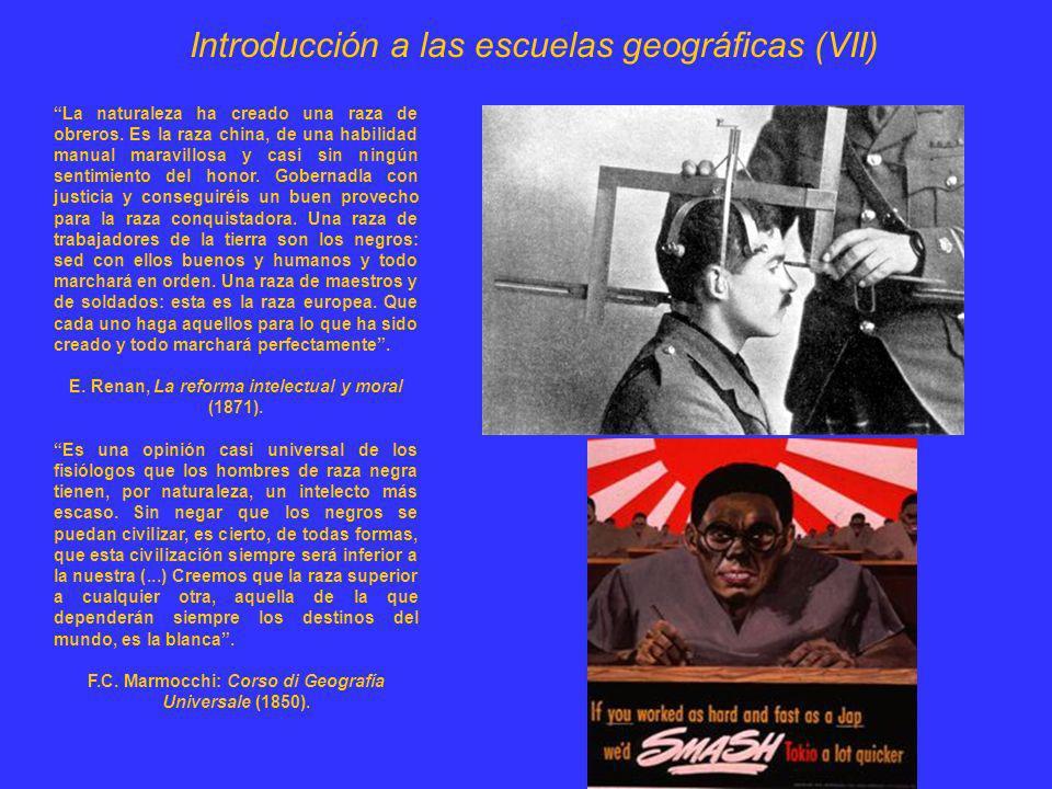 Introducción a las escuelas geográficas (VII)