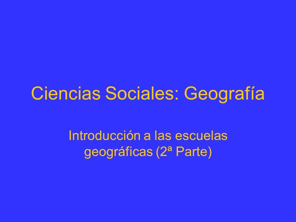Ciencias Sociales: Geografía