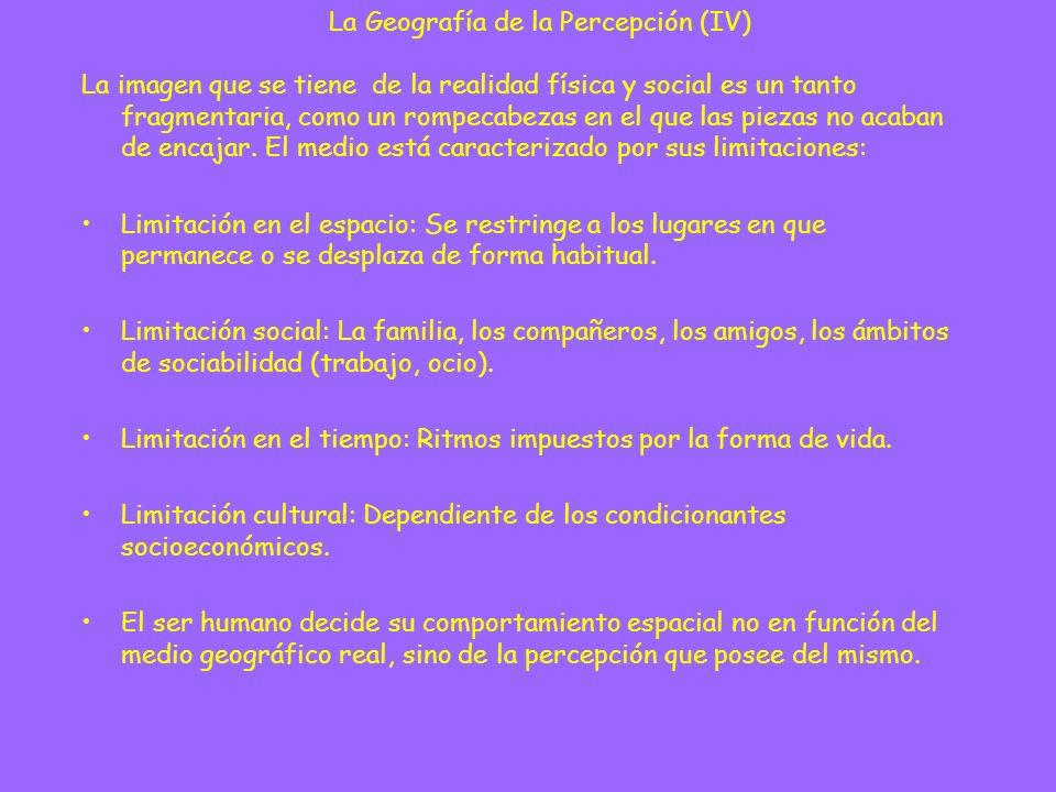 La Geografía de la Percepción (IV)