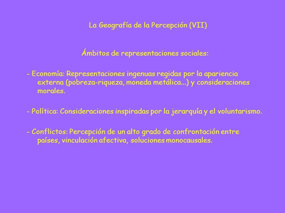 La Geografía de la Percepción (VII)