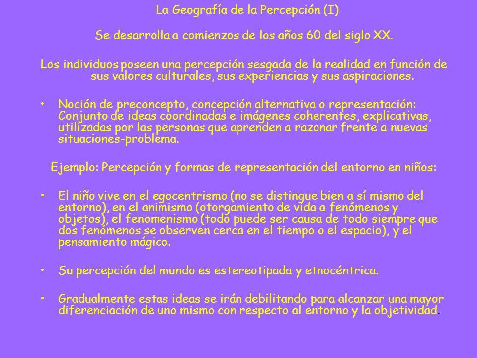 La Geografía de la Percepción (I)