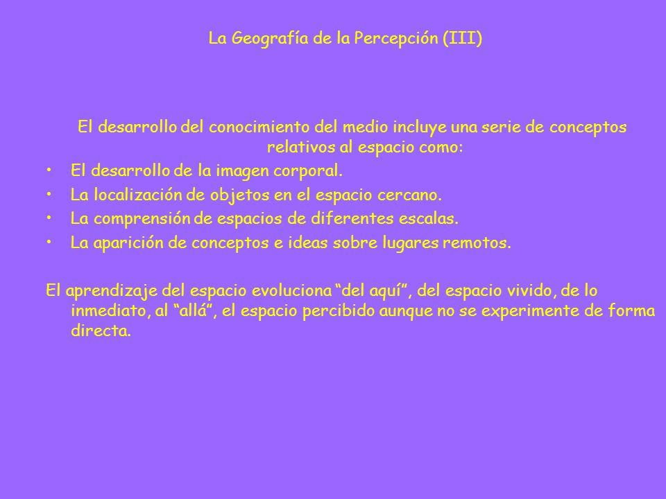 La Geografía de la Percepción (III)