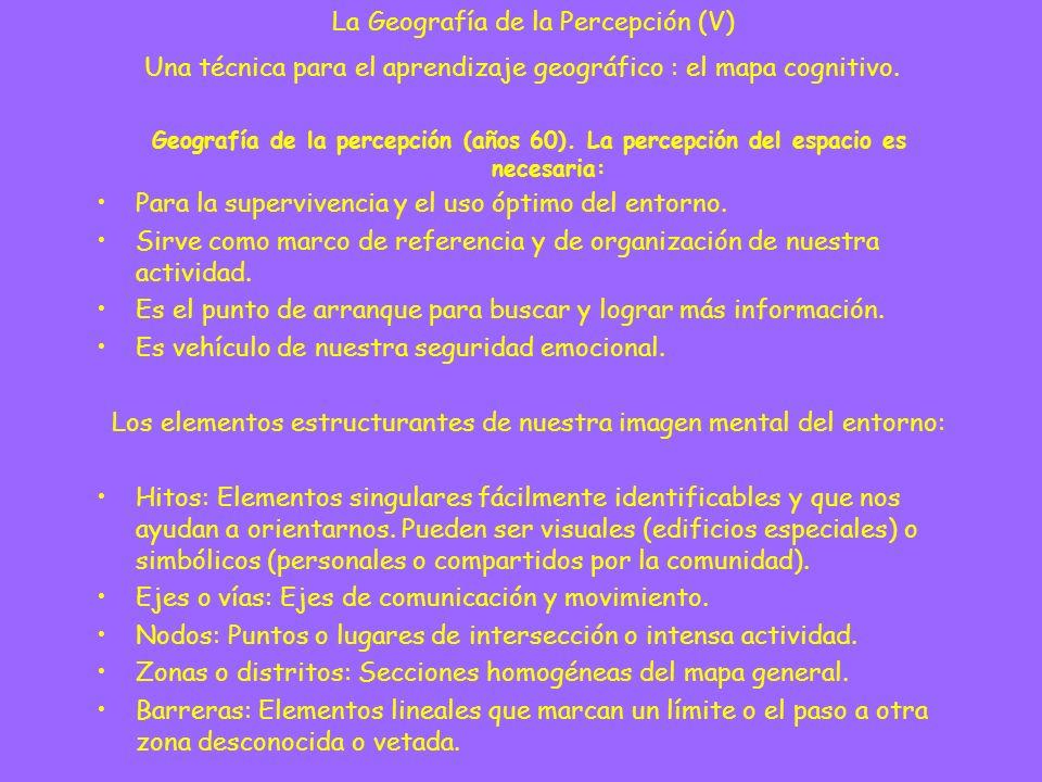 La Geografía de la Percepción (V)