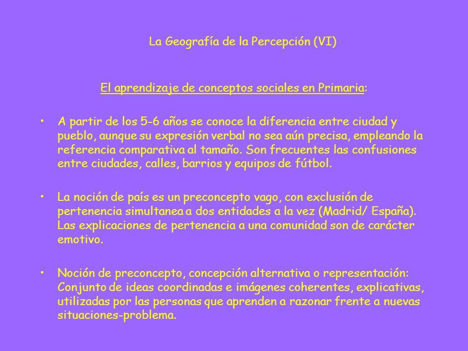 La Geografía de la Percepción (VI)