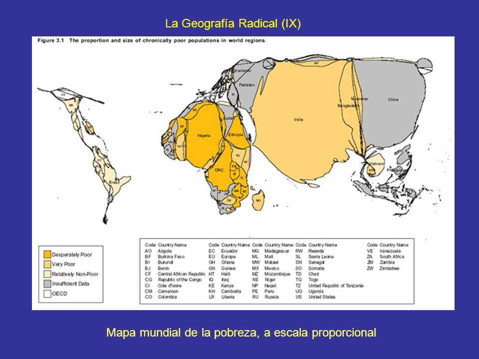 Mapa mundial de la pobreza, a escala proporcional