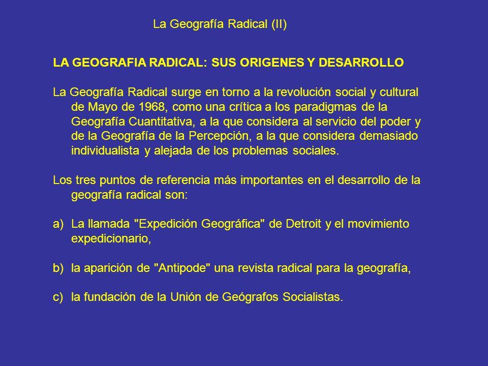 La Geografía Radical (II)