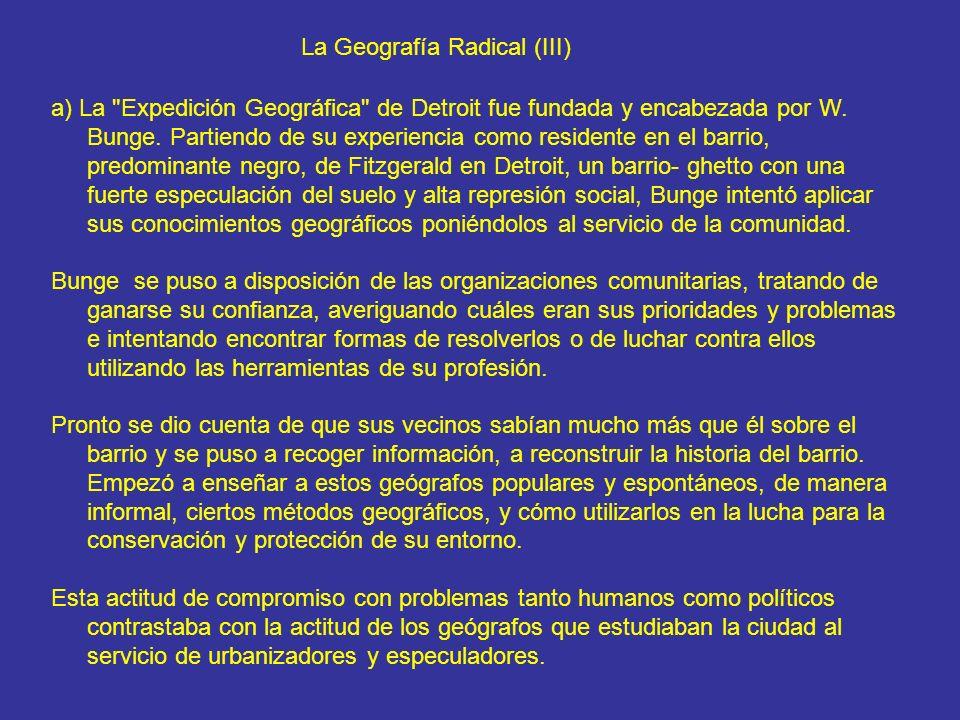 La Geografía Radical (III)