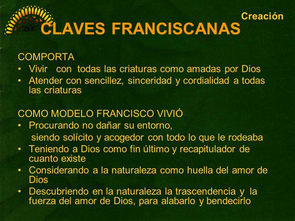 CLAVES FRANCISCANAS Creación COMPORTA