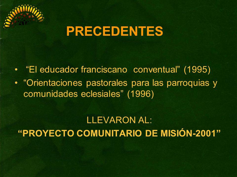 PROYECTO COMUNITARIO DE MISIÓN-2001