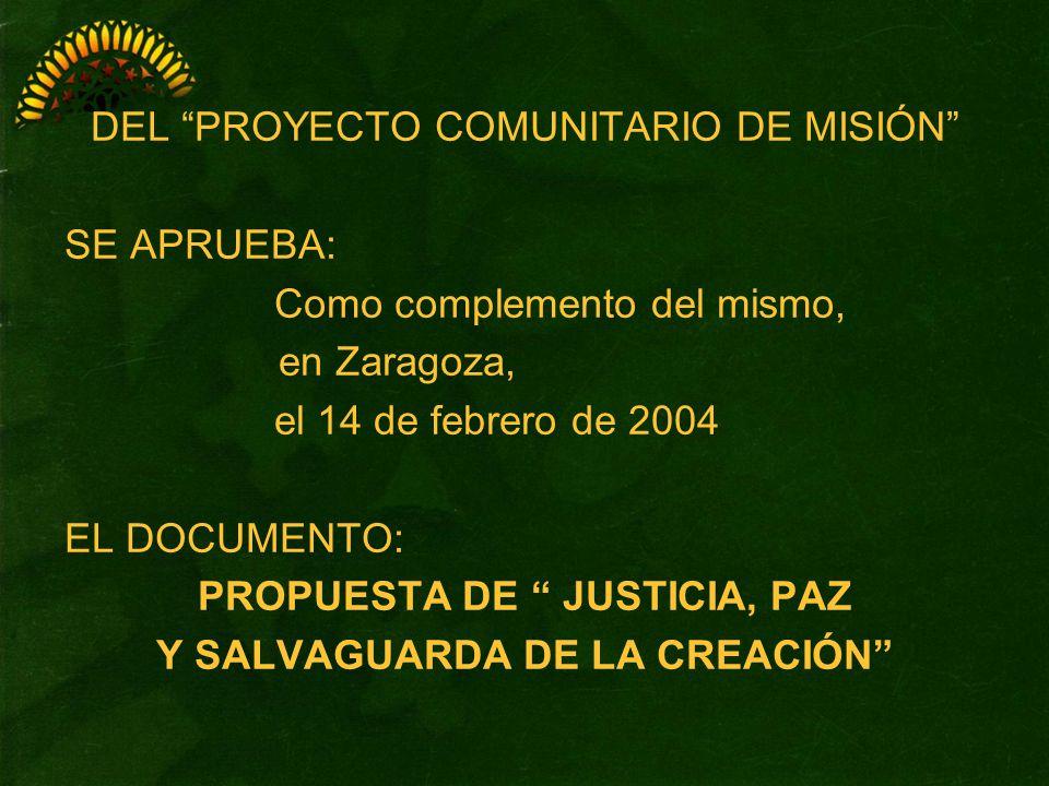 PROPUESTA DE JUSTICIA, PAZ