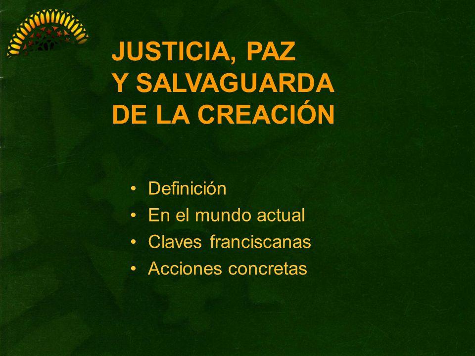 JUSTICIA, PAZ Y SALVAGUARDA DE LA CREACIÓN Definición