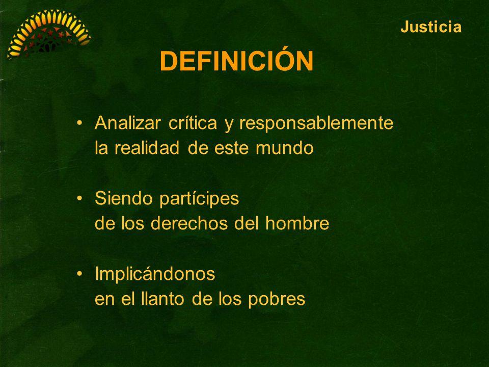 DEFINICIÓN Analizar crítica y responsablemente